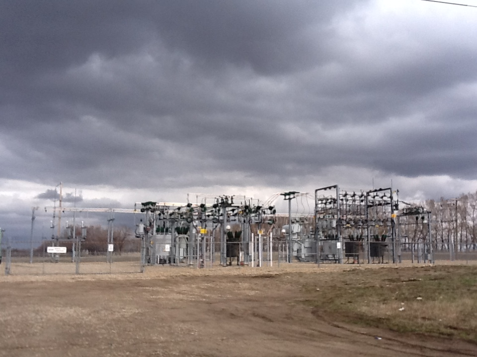 Innisfail Substation and Storm Clouds