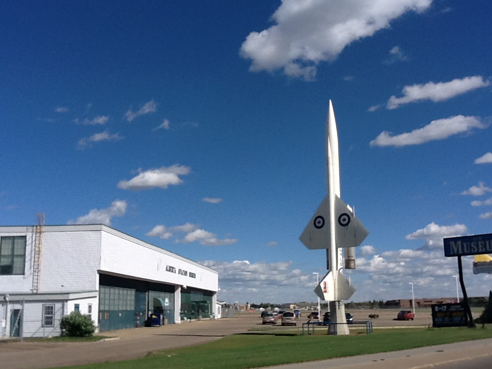 Outside the Aviation Museum