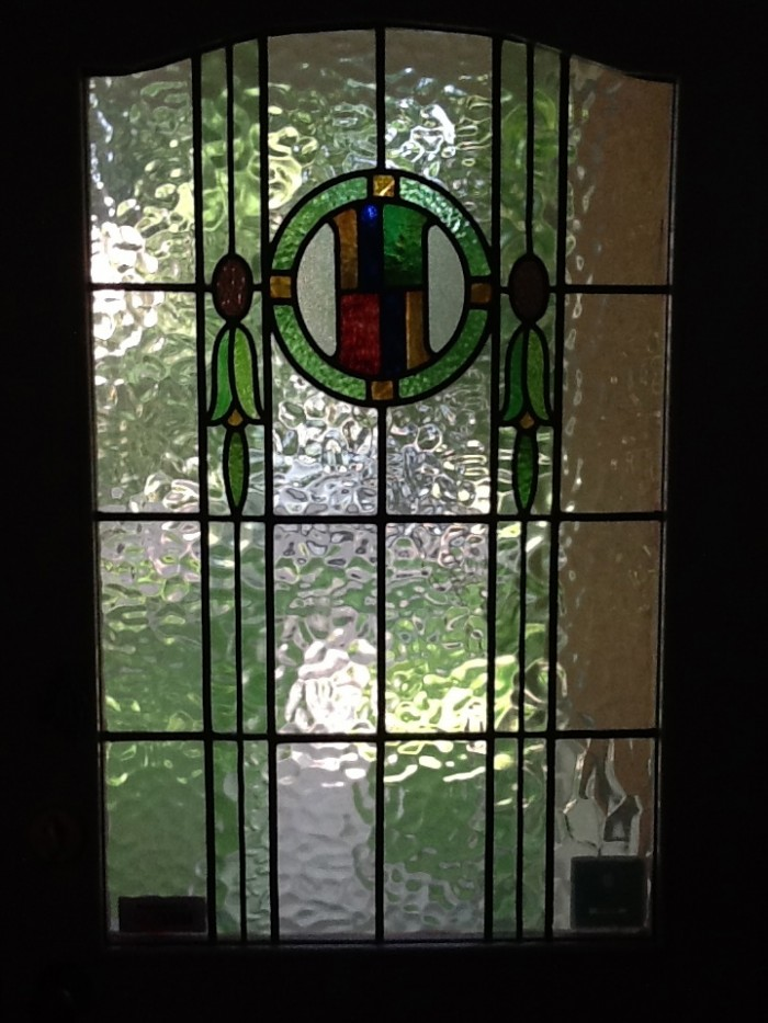 Stained glass on the front door