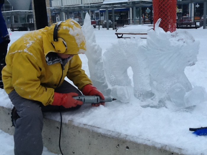 Ice Carving at Churchill Square