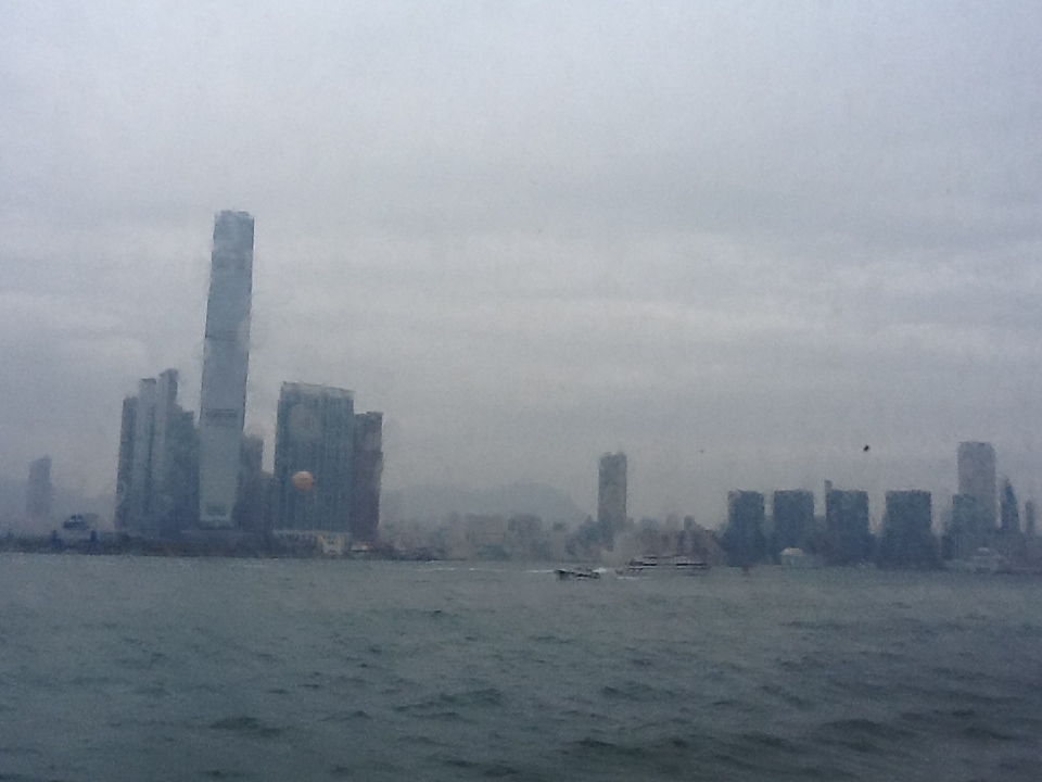 Hong Kong from ferry window