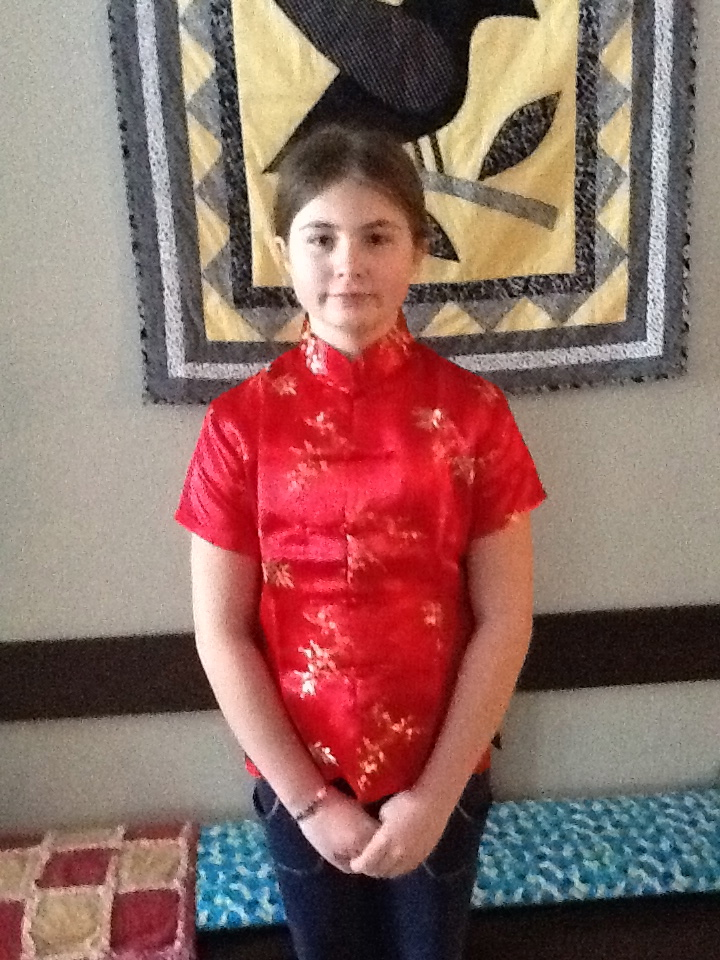 Jasmine in her red Chinese New Year jacket