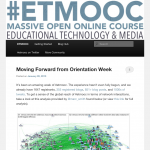 Joined the ET MOOC today