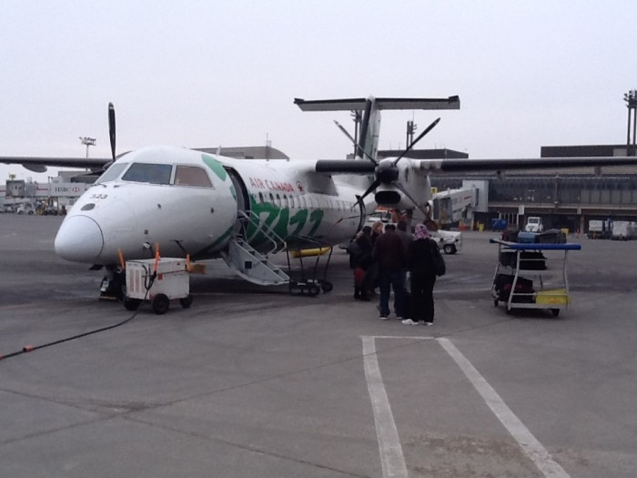 The Dash 8 I took back from Calgary today