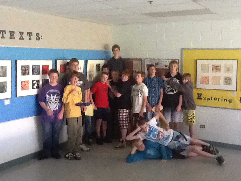My Grade 8 French Class at the Travelling Art Show