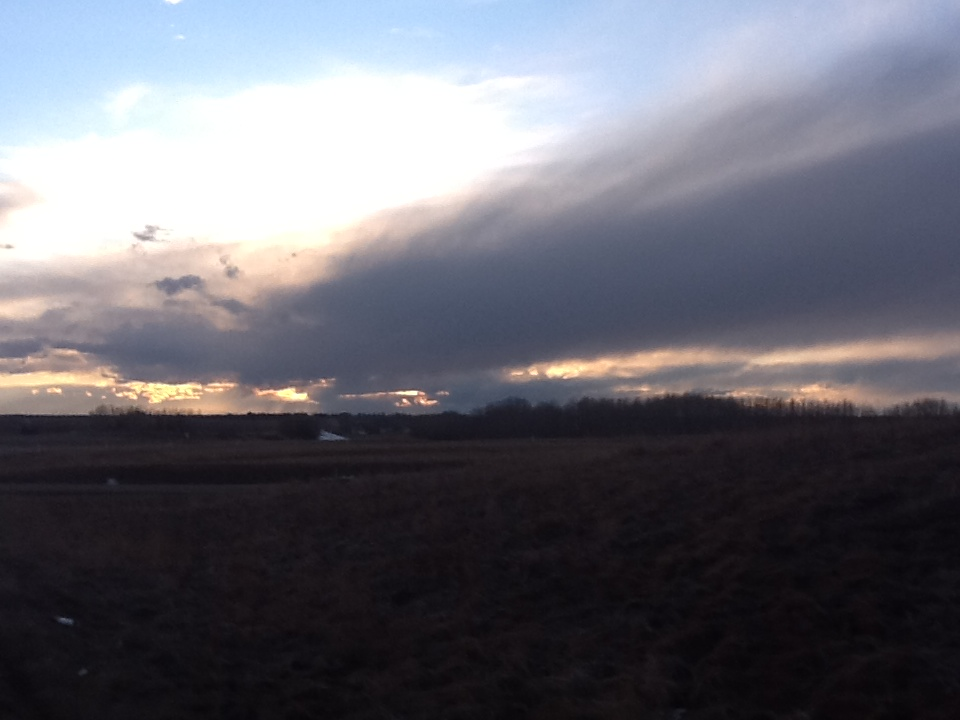 Stormy Sunset on highway 54