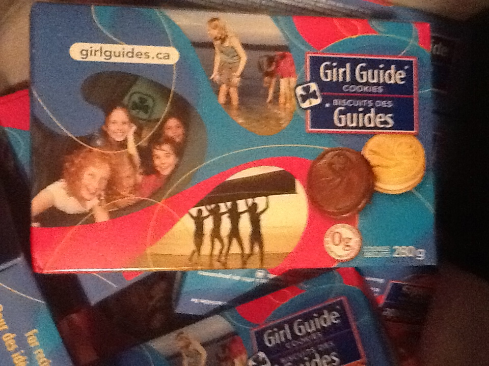 Boxes of Girl Guide Cookies