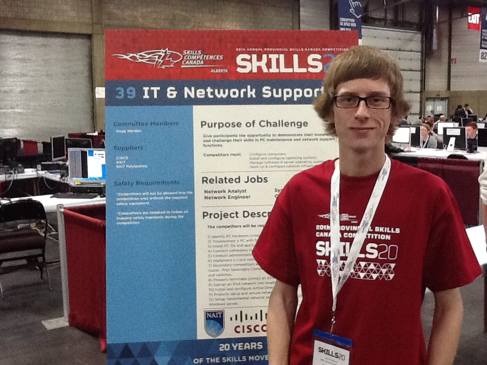 Trevor Leslie entering the IT and Network Support competition @Alberta Provincial Skills Competition