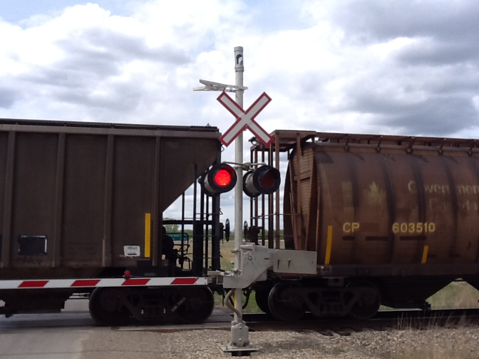 Train Crossing Highway 54 off highway 2