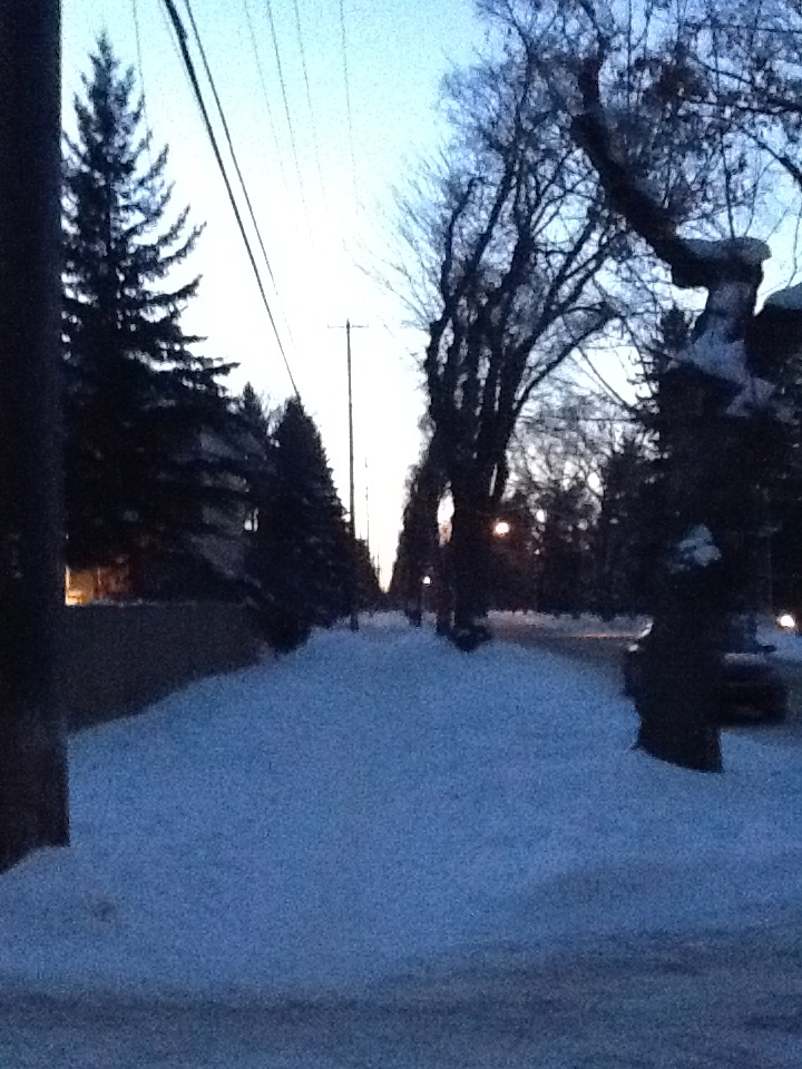 Almost Sunset on 106th Avenue