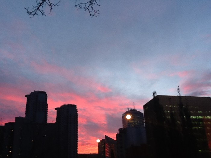 Downtown Sunrise (from 107 Street and Jasper Ave)