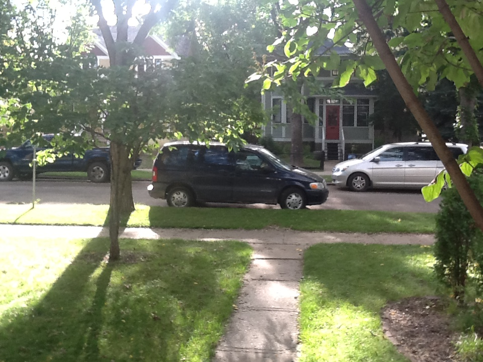 The Van Parked In Front of the House