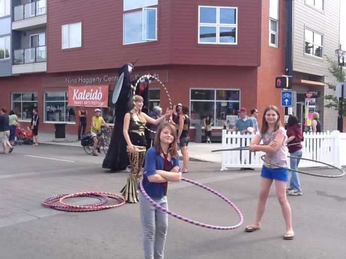 Hula Hooping at the Kaleido Festival on Alberta Avenue