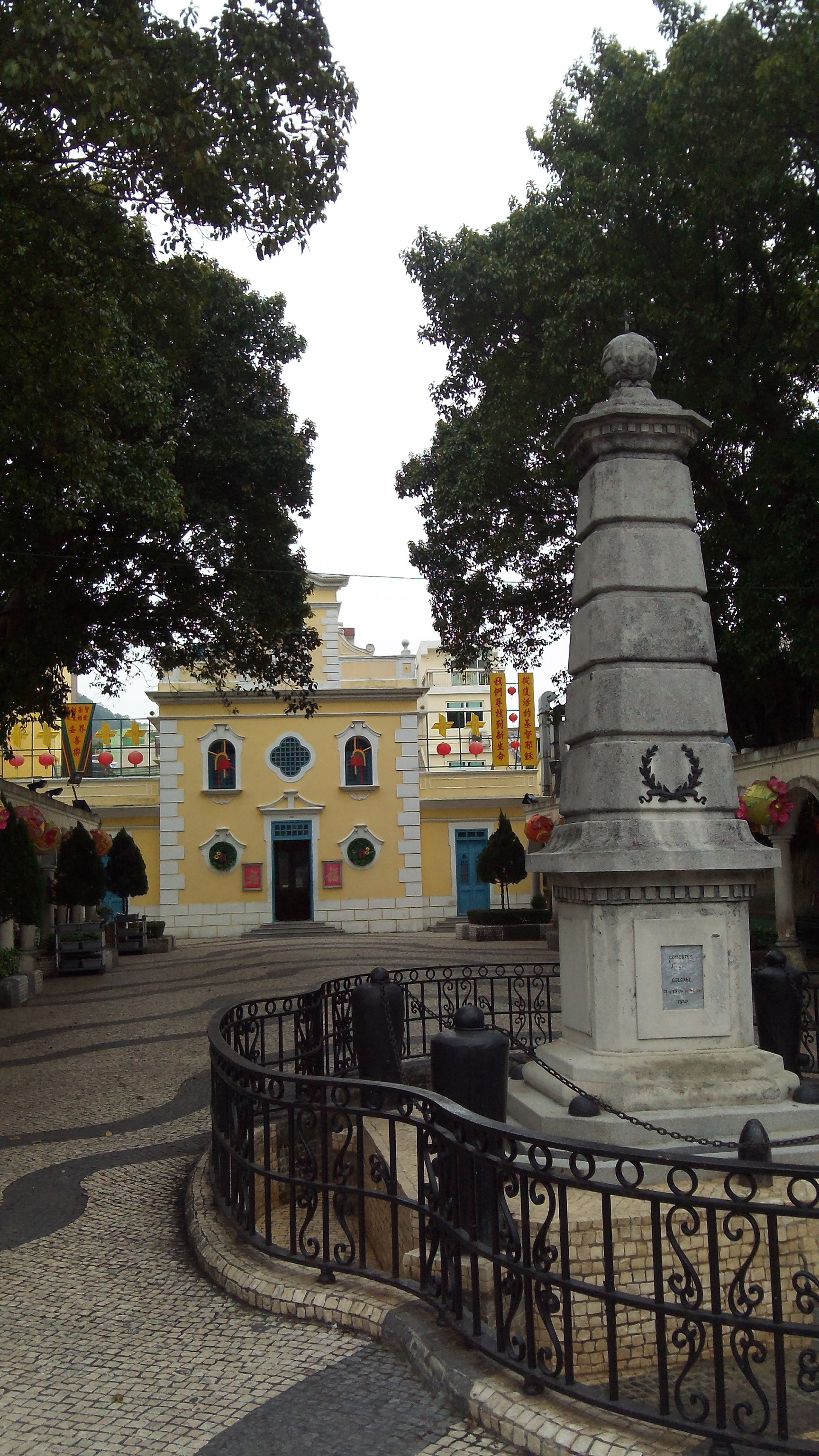Statue Church and Plaza Coloane, Macau