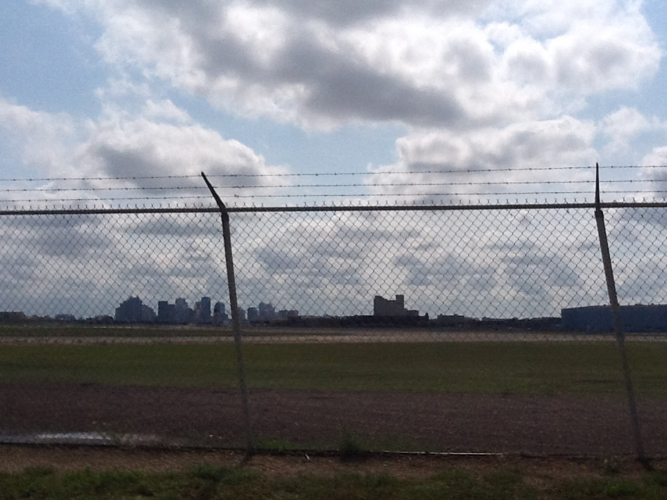 Downtown from the municipal airport
