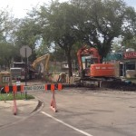 Construction on 106 Ave at 124 Street
