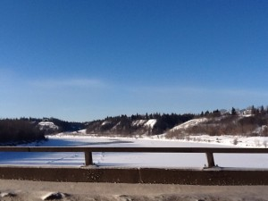The North Saskatchewan River from the Grout Bridge