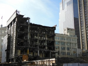 Demolition site in downtown Calgary