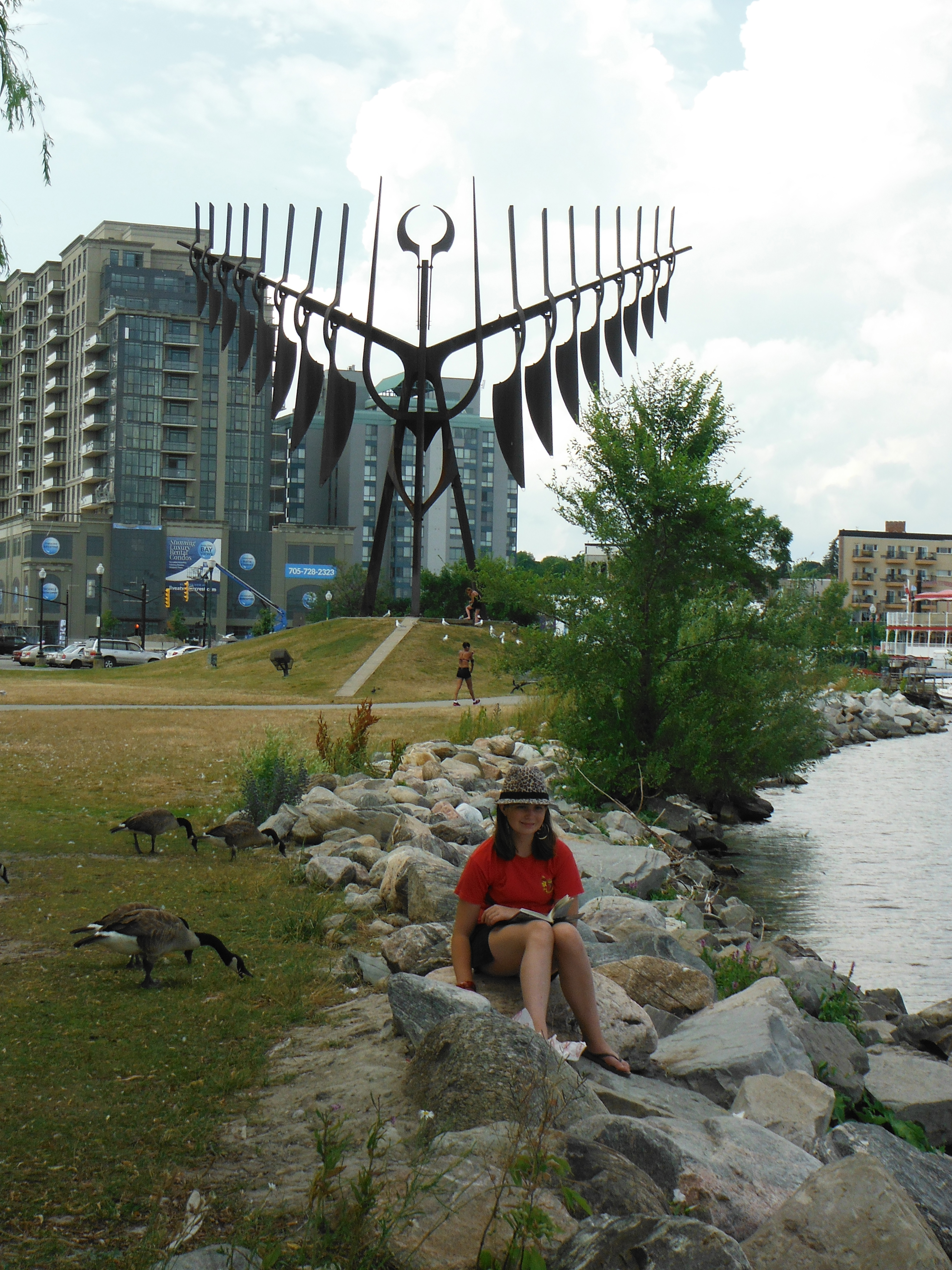 Jasmine with the Spirit Catcher in Barrie (Lake Huron)