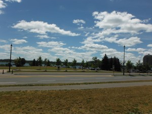 The waterfront along Lake Huron in Barrie Ontario