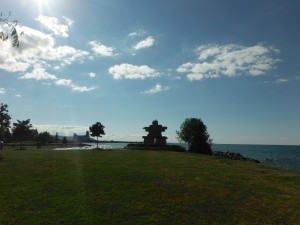 The Iniksuk at Sunset point on Lake Huron in Collingwood Ontario