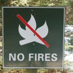 No Fires Sign, Bragg Creek Provincial Park