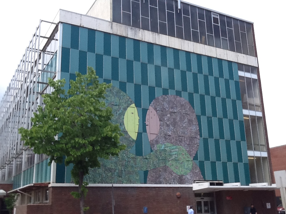 """""""Transitions"""" mural at 105 Street and 101 Ave"""