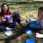 Picnic on green grass in Churchill Square