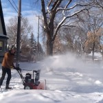 Wintery Light and Snow Blower