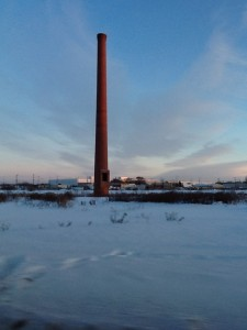 Chimney as sunset approaches