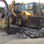 Digging up 108 Avenue