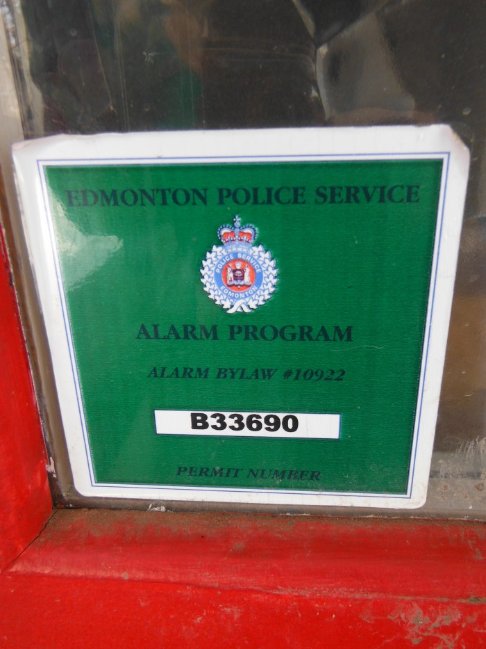Edmonton Police Service House Decal