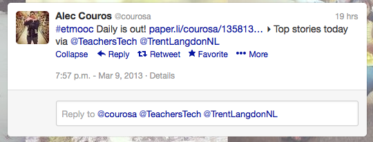 @courosa tweeting the release of #etmooc daily