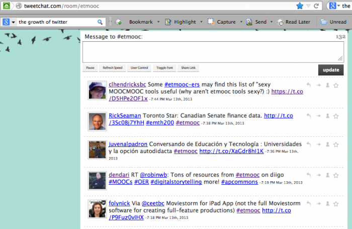 #etmooc Twitter feed 2013-03-13 at 7.47.43 PM