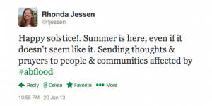 Solstice Thoughts: #abflood