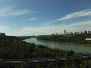 The North Saskatchewan River from the High Level Bridge