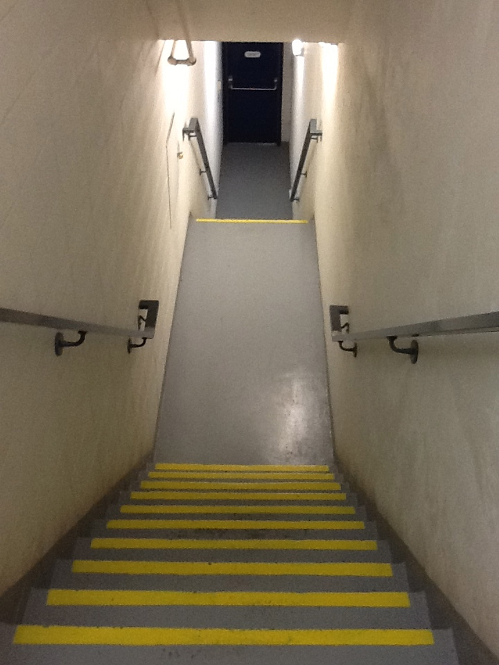 The back stairwell at 44 Cap