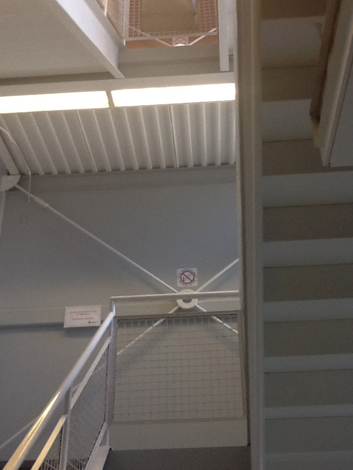 The side stairs at Alberta Health