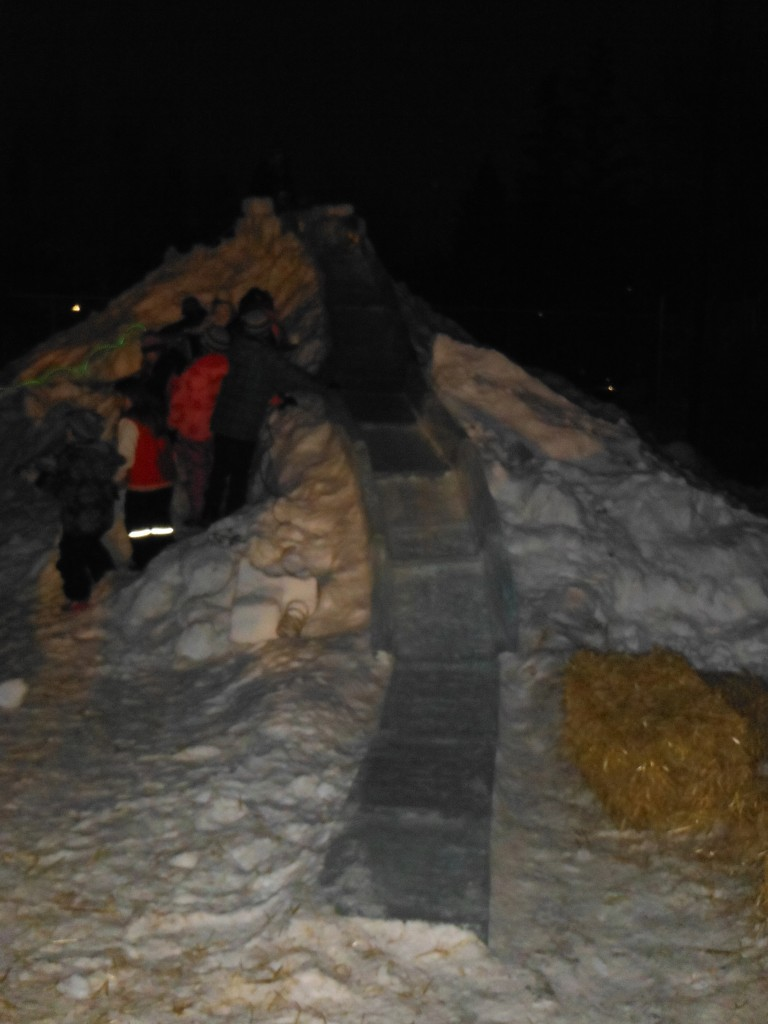 Ice Slide at Dusk