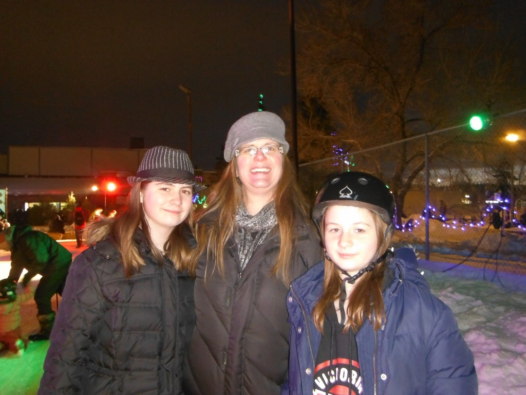 The girls and I on the ice