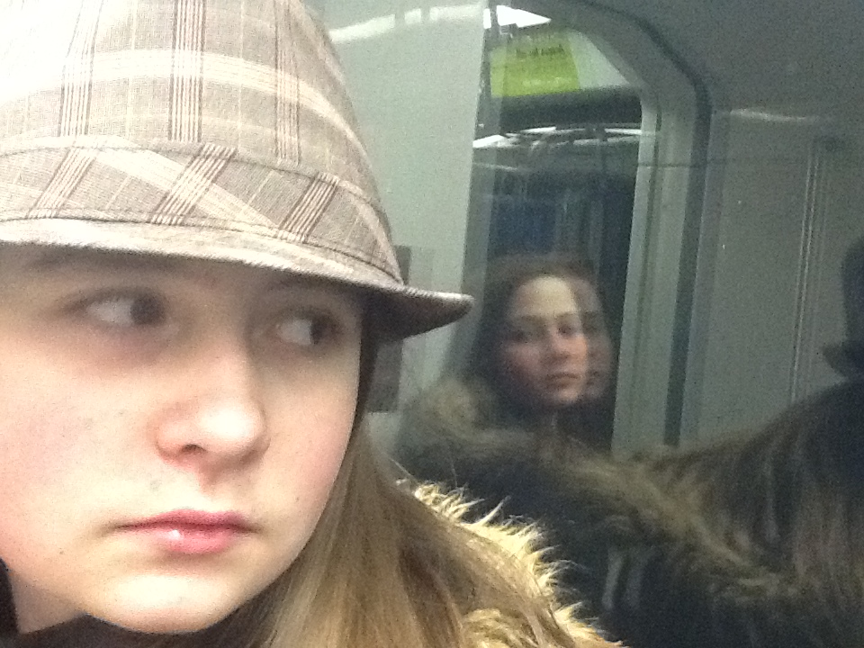The girls on the LRT