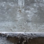 Slush on bus shelter