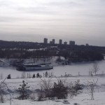Frozen Paddle Boat on the North Saskatchewan River