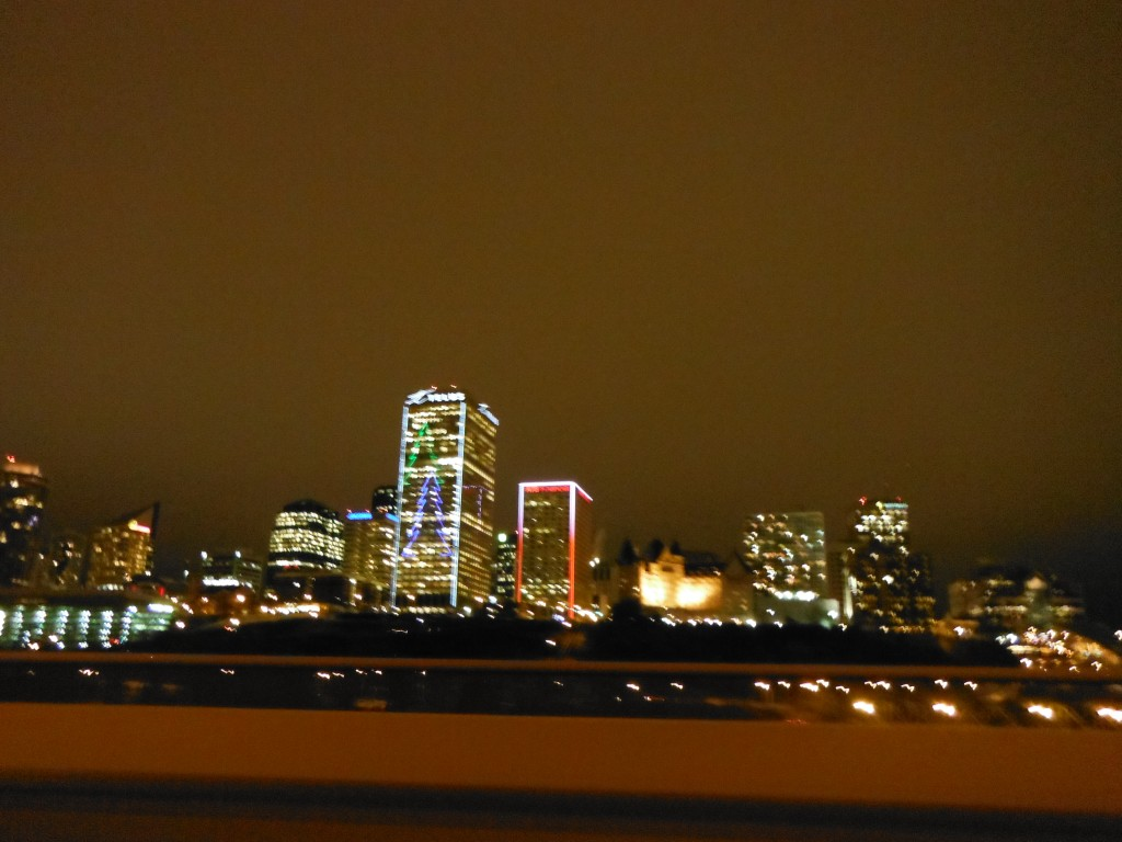 Downtown lights from 97 Avenue Bridge