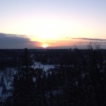 Sunset Over The North Saskatchewan