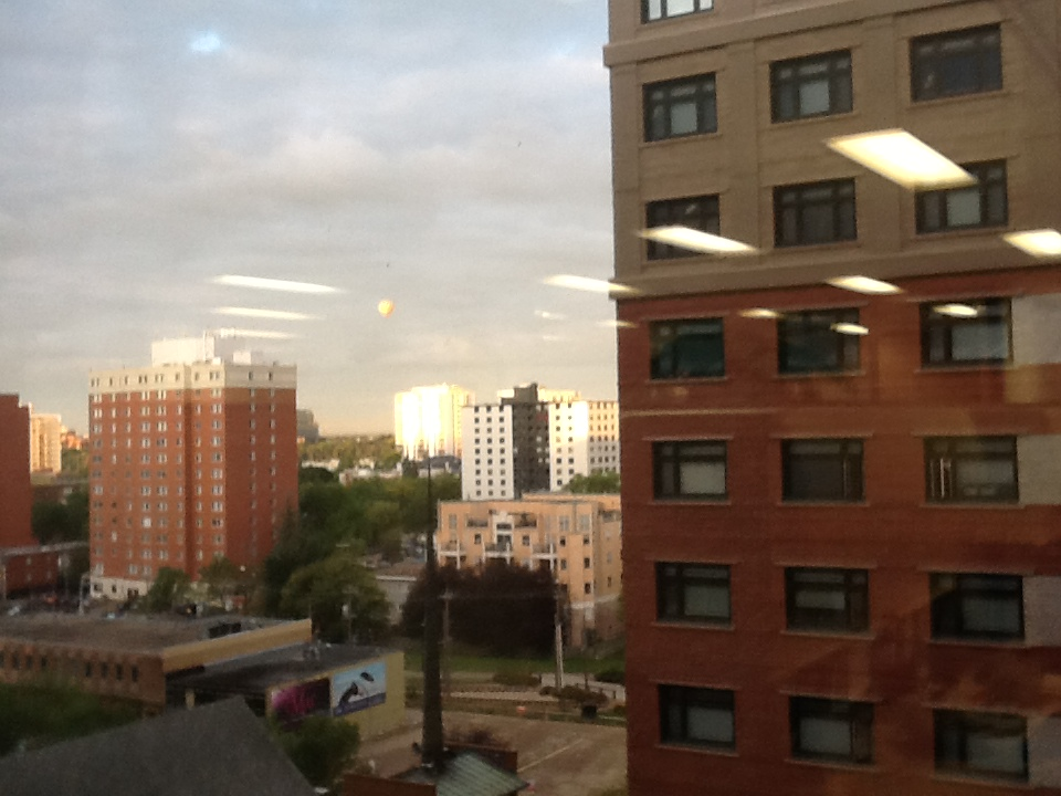 Hot air balloon from my desk