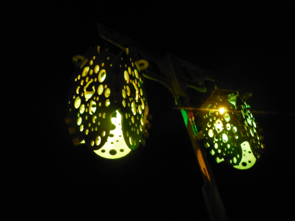 Lanterns along the Flying Canoe Adventure Walk