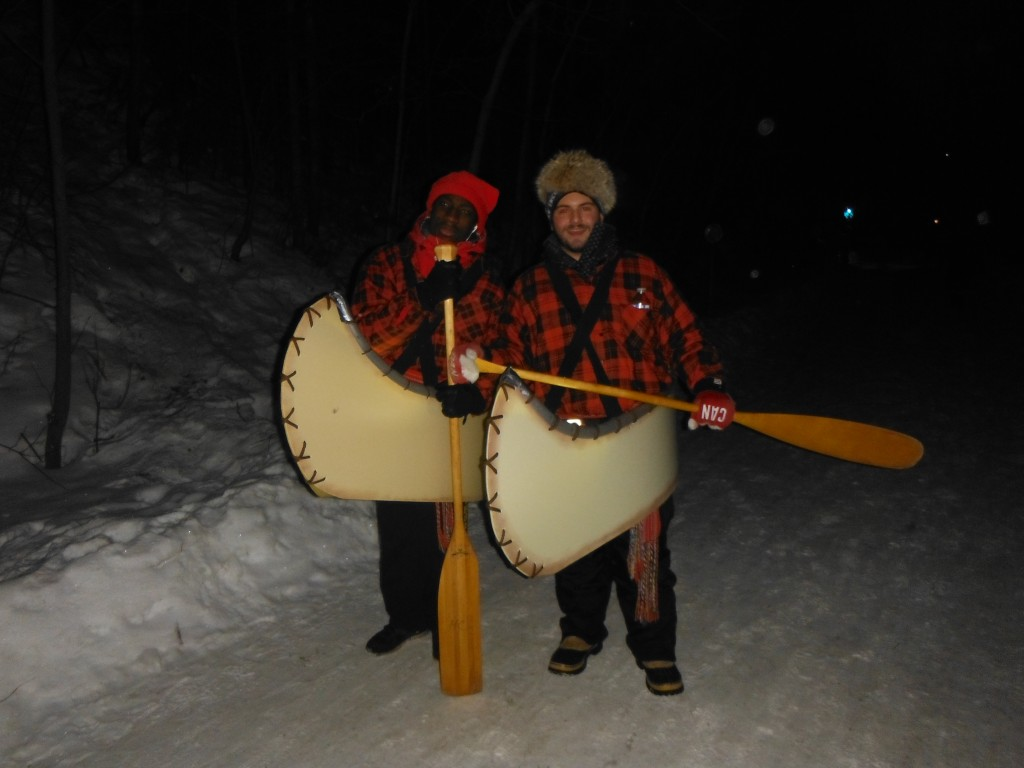 Voyageurs along the Flying Canoe Adventure Walk