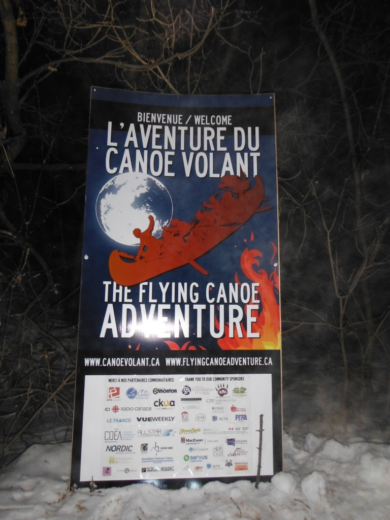 Poster for the Flying Canoe Adventure Walk