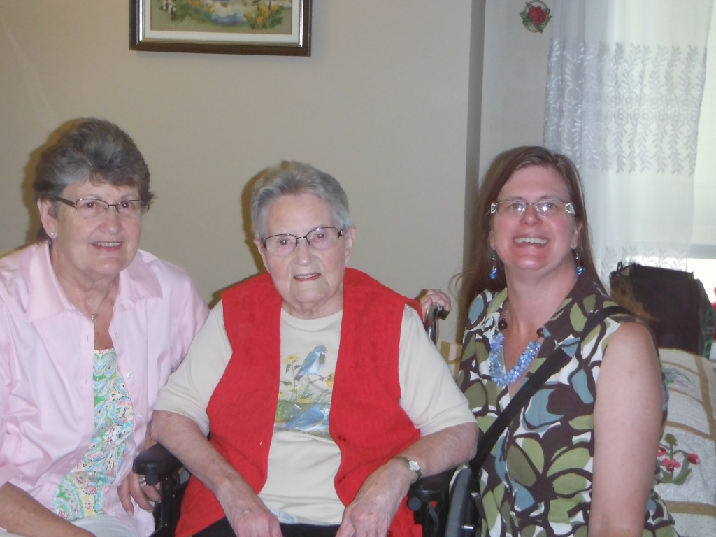My mother, grandmother and I last summer